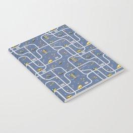 Under Construction Digger Vehicles Blue Pattern Notebook