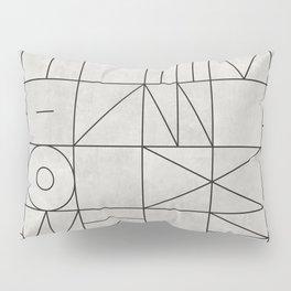 My Favorite Geometric Patterns No.3 - Grey Pillow Sham