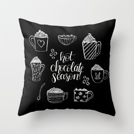 Hot Chocolate Season Throw Pillow