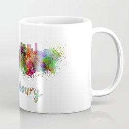 Luxembourg skyline in watercolor Coffee Mug
