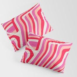 pink zebra stripes Pillow Sham