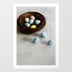 Robin's Eggs and Nest Art Print