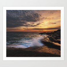 Twilight Surf Art Print