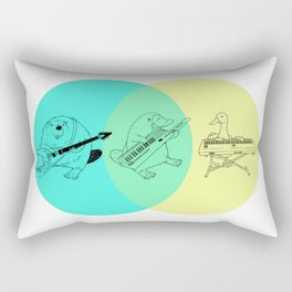 Keytar Platypus Venn Diagram Rectangular Pillow