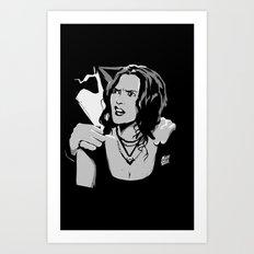 Stranger Faces Art Print