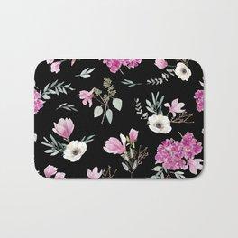 Magnolias, anemones, geranium and eucalyptus Bath Mat