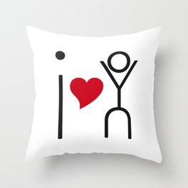 I love you - timeless artwork built of letters Throw Pillow