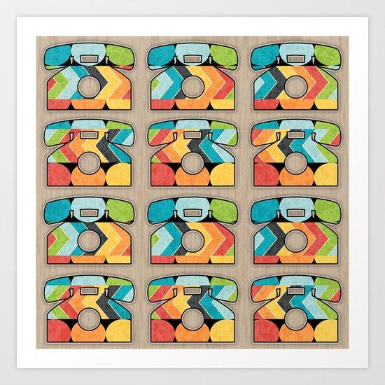 Telephone Call Art Print
