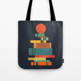 Book stack with a ball Tote Bag