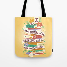 Reading list Tote Bag