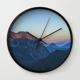 Dawn Color at Inspiration Point Wall Clock