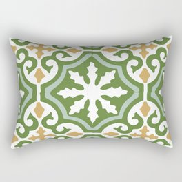 Geometric Mosaic Tile Pattern Rectangular Pillow