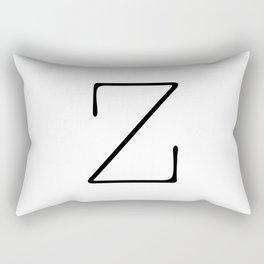 Letter Z Typewriting Rectangular Pillow