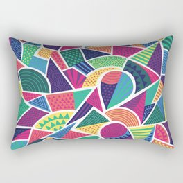 Bright Abstract Geo Rectangular Pillow