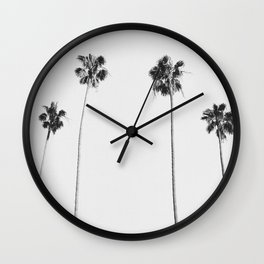 Black & White Palms Wall Clock