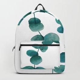 green eucalyptus watercolor Backpack