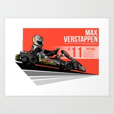 Max Verstappen - 2011 Portimao Art Print