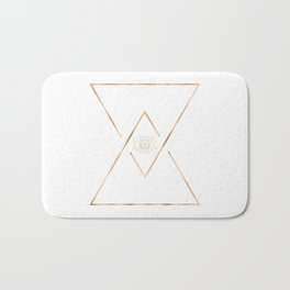 Mandala Gold Geometric Eye Bath Mat