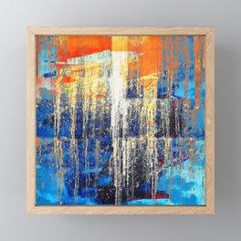 Golden Dawn, Abstract Landscape Art Framed Mini Art Print