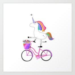 Bicycorn Art Print