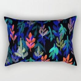 180726 Abstract Leaves Botanical Dark Mode 7 Botanical Illustrations Rectangular Pillow