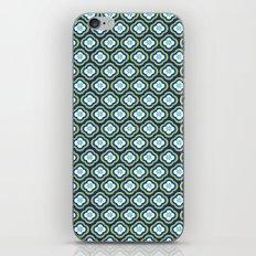 Navy Graphic Flower iPhone & iPod Skin