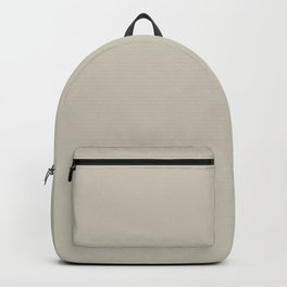 SUNDAY TEA Light Taupe Neautral solid clor Backpack