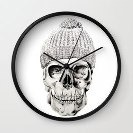 Skull with Hat Wall Clock