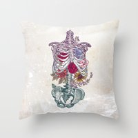 la Throw Pillows featuring La Vita Nuova (The New Life) by Rachel Caldwell