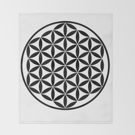 Pure Energy The Flower of Life Throw Blanket