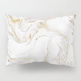 Liquid gold marble Pillow Sham