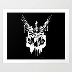 Skulls Rock Band  Art Print