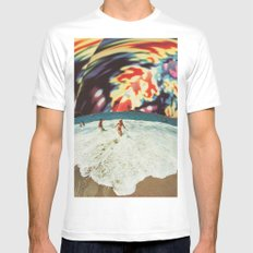 Meridional Helix (Pastime) White MEDIUM Mens Fitted Tee