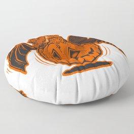 HALLOWEEN FrIENDS (Goblin Orange) Floor Pillow