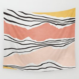 Modern irregular Stripes 01 Wall Tapestry