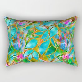 Floral Abstract Stained Glass G265 Rectangular Pillow