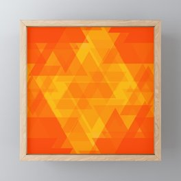 Bright orange and yellow triangles in the intersection and overlay. Framed Mini Art Print