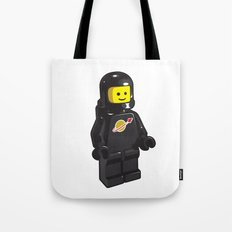 Vintage Lego Black Spaceman Minifig Tote Bag