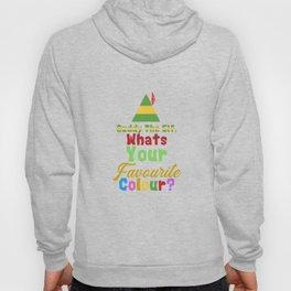 """Buddy the elf, whats you're favourite colour"" Christmas Xmas Festive Design Hoody"