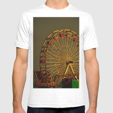 Pacific Park at sunset White MEDIUM Mens Fitted Tee