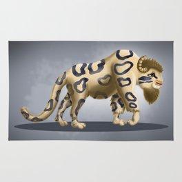 Bison Leopard Rug