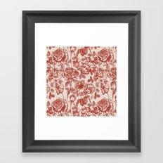 Toile de jouy (Roses) Framed Art Print