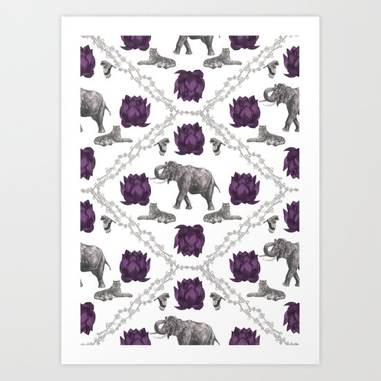 The Tale of Two Tigers Art Print