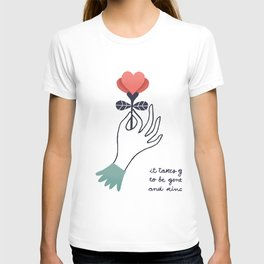 it takes guts to be gentle and kind T-shirt