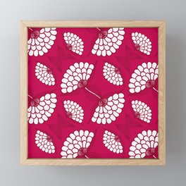 African Floral Motif on Magenta Framed Mini Art Print