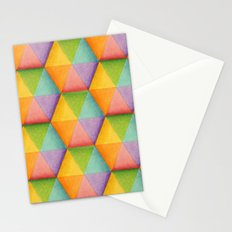 Rainbow Facets Stationery Cards