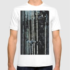 Birch Forrest At Night White MEDIUM Mens Fitted Tee