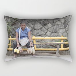 those who feel the breath of sadness... Rectangular Pillow
