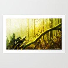 Environment Speedpaint Forest concept Art Print
