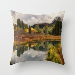Transition Of The Seasons in Rocky Mountain Throw Pillow
